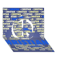 Christian Peace Sign 3d Greeting Card (7x5)