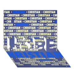 Christian Hope 3d Greeting Card (7x5)