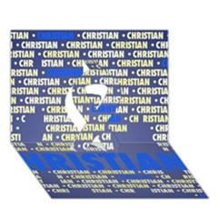 Christian Ribbon 3D Greeting Card (7x5)