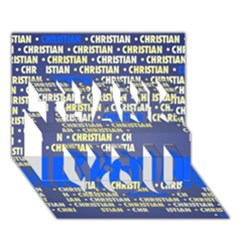 Christian THANK YOU 3D Greeting Card (7x5)