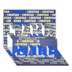 Christian Take Care 3d Greeting Card (7x5)