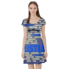 Christian Short Sleeve Skater Dresses