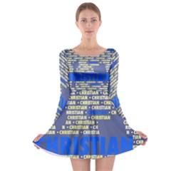 Christian Long Sleeve Skater Dress