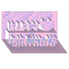 Anne Happy Birthday 3d Greeting Card (8x4)