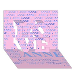 Anne Love 3d Greeting Card (7x5)