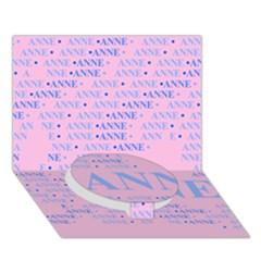 Anne Circle Bottom 3D Greeting Card (7x5)