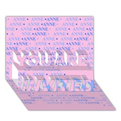 Anne You Are Invited 3d Greeting Card (7x5)