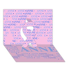 Anne Ribbon 3d Greeting Card (7x5)