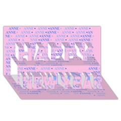 Anne Happy New Year 3D Greeting Card (8x4)
