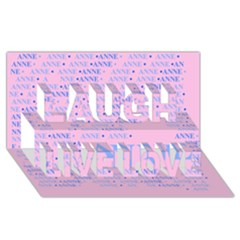 Anne Laugh Live Love 3D Greeting Card (8x4)