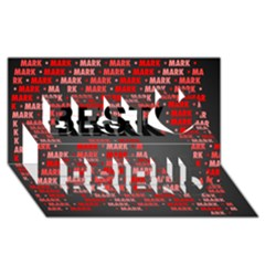 Mark Best Friends 3D Greeting Card (8x4)