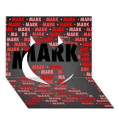 Mark Heart 3D Greeting Card (7x5)