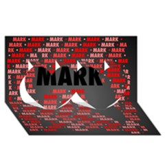 Mark Twin Hearts 3D Greeting Card (8x4)