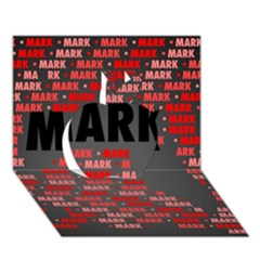 Mark Apple 3D Greeting Card (7x5)