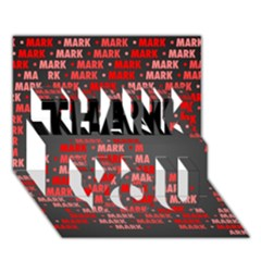 Mark Thank You 3d Greeting Card (7x5)