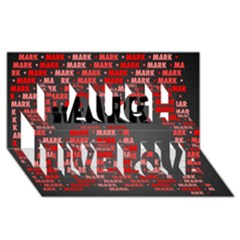Mark Laugh Live Love 3D Greeting Card (8x4)