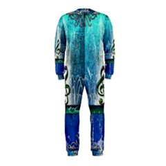 Clef With Water Splash And Floral Elements OnePiece Jumpsuit (Kids)