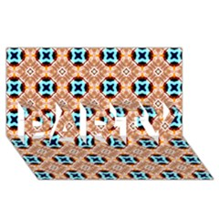Cute Pattern Gifts PARTY 3D Greeting Card (8x4)