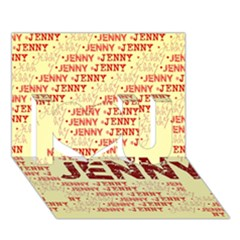 Jenny I Love You 3D Greeting Card (7x5)
