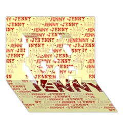Jenny Love 3d Greeting Card (7x5)