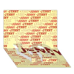 Jenny LOVE Bottom 3D Greeting Card (7x5)
