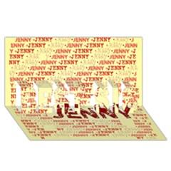 Jenny Best Sis 3d Greeting Card (8x4)
