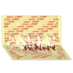 Jenny SORRY 3D Greeting Card (8x4)