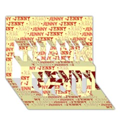 Jenny Thank You 3d Greeting Card (7x5)
