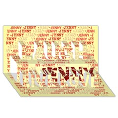 Jenny Laugh Live Love 3D Greeting Card (8x4)