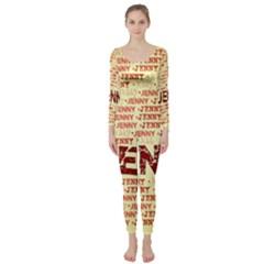 Jenny Long Sleeve Catsuit