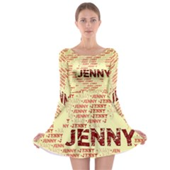 Jenny Long Sleeve Skater Dress