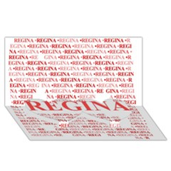 Regina Twin Heart Bottom 3d Greeting Card (8x4)