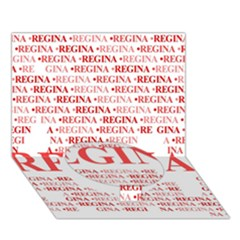 Regina Circle Bottom 3D Greeting Card (7x5)