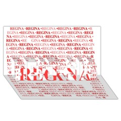 Regina BEST SIS 3D Greeting Card (8x4)