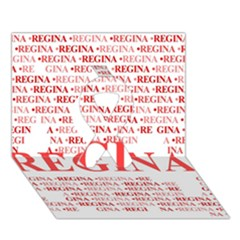 Regina Ribbon 3d Greeting Card (7x5)