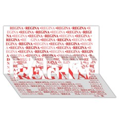 Regina Party 3d Greeting Card (8x4)