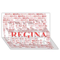 Regina Best Wish 3D Greeting Card (8x4)