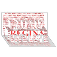 Regina Laugh Live Love 3D Greeting Card (8x4)