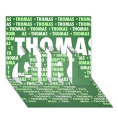 Thomas GIRL 3D Greeting Card (7x5)