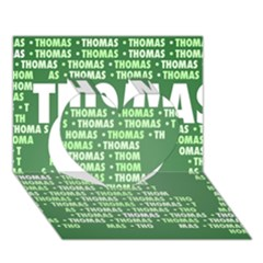 Thomas Heart 3D Greeting Card (7x5)