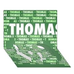 Thomas LOVE Bottom 3D Greeting Card (7x5)