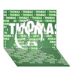 Thomas Peace Sign 3d Greeting Card (7x5)