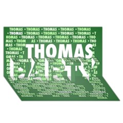 Thomas PARTY 3D Greeting Card (8x4)
