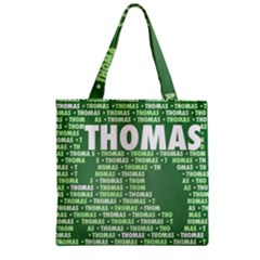 Thomas Zipper Grocery Tote Bags