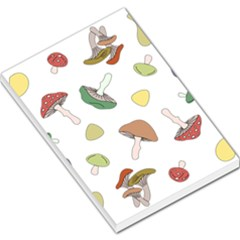 Mushrooms Pattern 02 Large Memo Pads