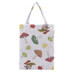 Mushrooms Pattern 02 Classic Tote Bags