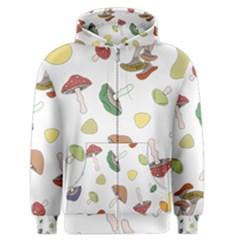 Mushrooms Pattern 02 Men s Zipper Hoodies