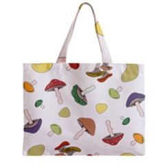 Mushrooms Pattern 02 Zipper Tiny Tote Bags