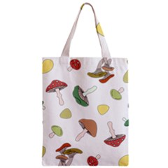 Mushrooms Pattern 02 Zipper Classic Tote Bags