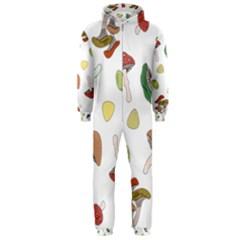 Mushrooms Pattern 02 Hooded Jumpsuit (Men)
